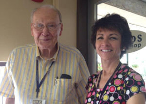 Les Stobbe and Lori Hatcher at the 2015 Blue Ridge Mountains Christian Writers Conference